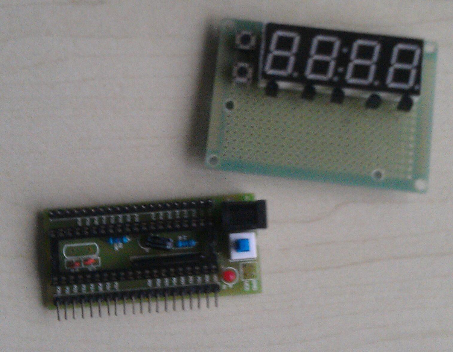 手工制作51单片机电子表,初步组装