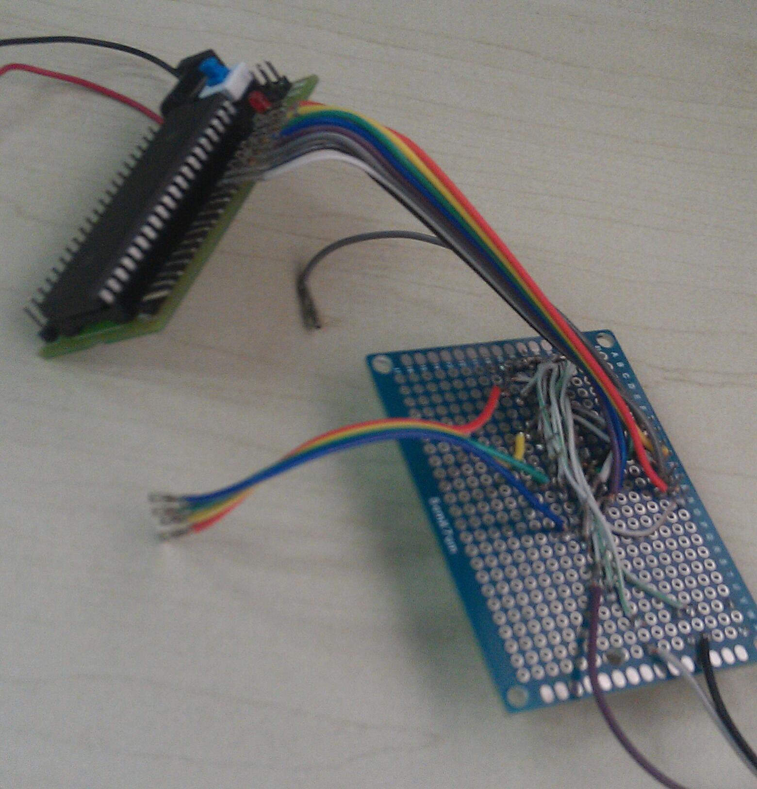 手工制作51单片机电子表,线路焊接