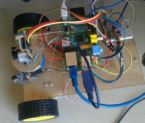 我的raspberry pi 小车的上层。包含步进电机,和raspberry pi的主板。