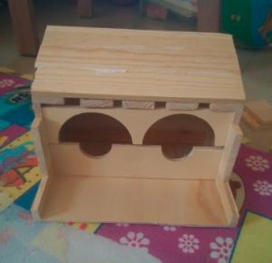 红酒箱做鸟窝5